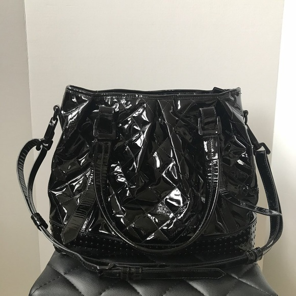 658a31ba90 Burberry Bags   Patent Leather Quilted Lowry Bag   Poshmark